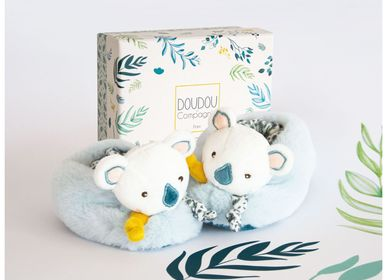 Slippers / shoes - YOCA LE KOALA - Botties with rattle - DOUDOU ET COMPAGNIE