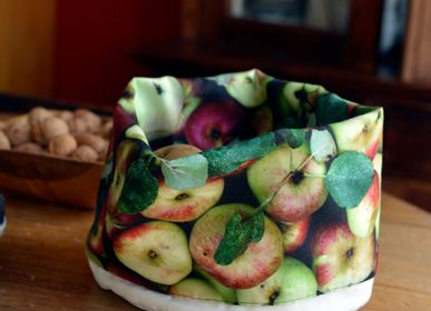 Homewear - Fabric Basket printed Apples - MARON BOUILLIE