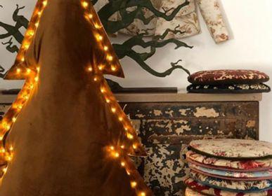 Guirlandes et boules de Noël - Noël: coussins, sapins et vestes  - ROSE VELOURS