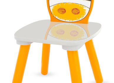 Children's tables and chairs - CHAIR SAFARI: ZEBRA - ULYSSE COULEURS D'ENFANCE
