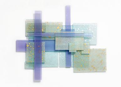 Autres décorations murales - Sculpture murale en soie et verre - PRECIOUS KYOTO
