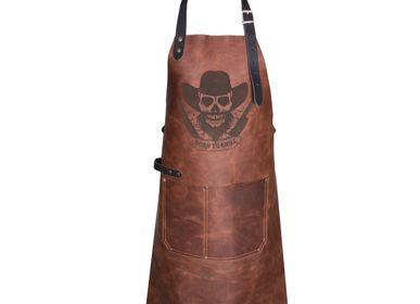"Services - ""Born To Grill"" Limited Edition Leather BBQ Apron - BRICKWALLS AND BARRICADES B.V."