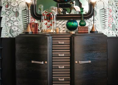 Sideboards - Real antiq sideboard 40's - mat black finish - OBJET DE CURIOSITÉ