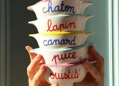 Bowls - BRITANY BOWL WITH TWISTED MESSAGES - PIED DE POULE