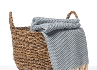Throw blankets - HANDLOOMED HIGH QUALITY COTTON THROW BED COVER - LALAY