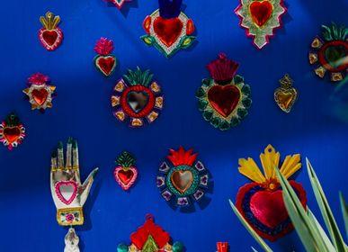 Decorative objects - Colourful ex-voto heart - TIENDA ESQUIPULAS