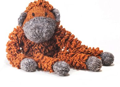 Soft toy - Boris l'Orang-Outan - Durable, Handmade Soft Toy from Fair Trade - KENANA KNITTERS