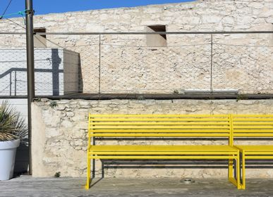 Benches - CORTINA.026 BENCH WITH BACKREST - URBANTIME BY DIEMMEBI