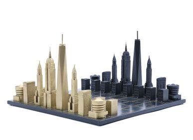 Objets design - Bronze massif de luxe New York - SKYLINE CHESS LTD