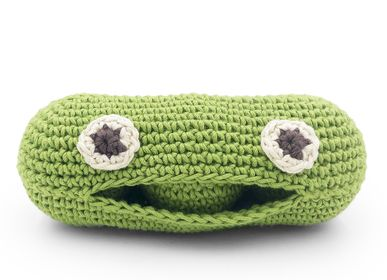 Toys - PIA MINI GREEN PEAS - BABY RATTLE 100% ORGANIC COTON - MYUM - THE VEGGY TOYS