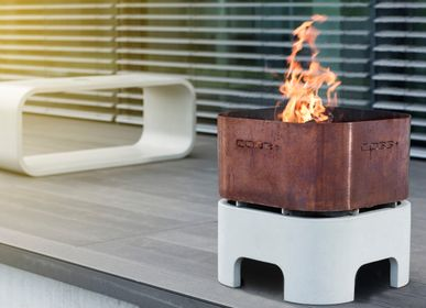Barbecues - OPUS IGNIS Fire Bowl Barbeque with grill - CO33 EXKLUSIVE BETONMÖBEL