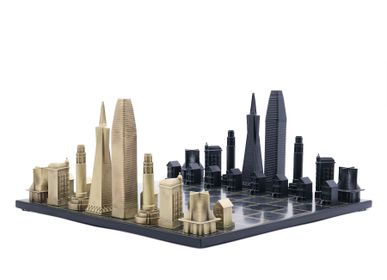 Objets design - Bronze massif de luxe San Francisco Edition - SKYLINE CHESS LTD