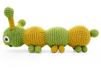 Toys - CHIARA CATERPILLAR - VIBRANT TOY 100% ORGANIC COTTON - MYUM - THE VEGGY TOYS