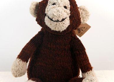 Peluches - Chimpanzé - Peluche durable , faite main issue du commerce équitable - KENANA KNITTERS