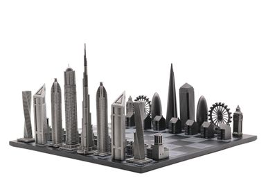 Objets design - Édition Spéciale Métal Premium (Combinaison de deux villes) - SKYLINE CHESS LTD