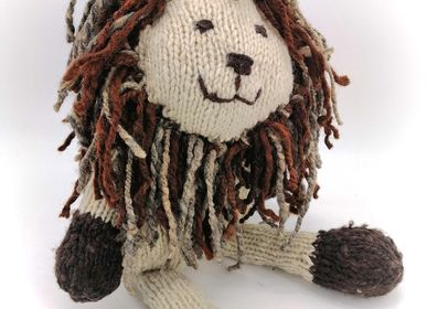 Soft toy - Bob the Lion - Durable, Handmade Soft Toy from Fair Trade - KENANA KNITTERS