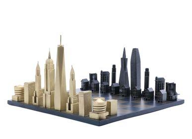 Objets design - Édition Spéciale Bronze massif de luxe (Combinaison de deux villes) - SKYLINE CHESS LTD