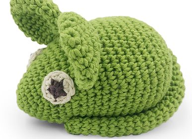 Toys - PÂQUERETTE THE GREEN MOUSE - TOY 100% ORGANIC COTON - MYUM - THE VEGGY TOYS