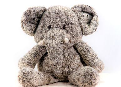 Soft toy - elephant - durable, handmade soft toy from fair trade - KENANA KNITTERS