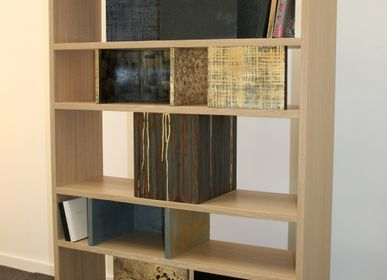 "Bookshelves - ""BOX 2"" bookcase with skeleton - VALERIE BEAUMONT"