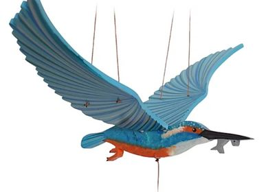 Decorative items - Kingfisher - Handmade handmade mobile from fair trade - TULIA'S ARTISAN GALLERY