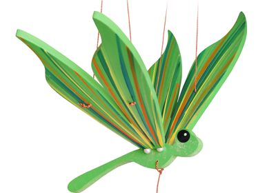 Decorative items - dragonfly - handmade  wood mobile from fair trade - TULIA'S ARTISAN GALLERY