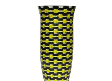 Bowls - Yellow Teleport Flower Vase Big - SYNCHROPAINT