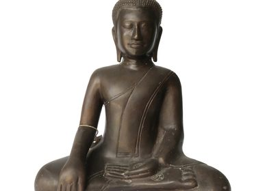 Sculptures, statuettes and miniatures - Bronze Buddha Statue - NYAMAN GALLERY BALI