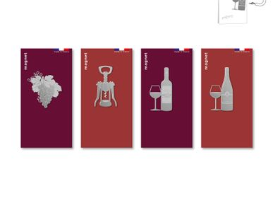 Design objects - Stainless steel magnet - Oenology. - TOUT SIMPLEMENT,