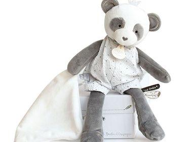 Peluches - ATTRAPE-REVES - Pantin avec doudou -  Panda  - DOUDOU ET COMPAGNIE