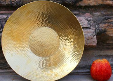 Platter, bowls - Handmade copper and Brass Platter - DE KULTURE WORKS