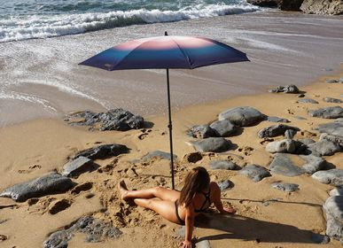 Design objects - Beach Umbrella - Psyché rose poudré - Klaoos - KLAOOS