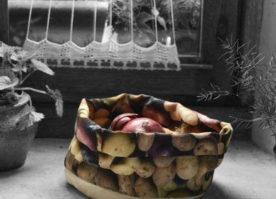 Homeweartextile - Corbeille en tissu imprimé Pomme de terre - MARON BOUILLIE