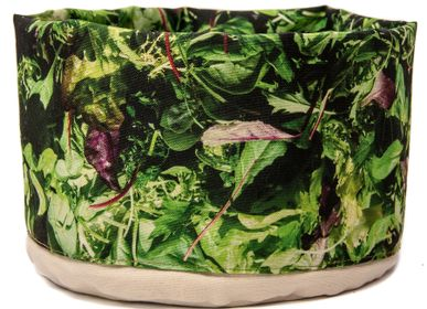 Platter and bowls - Fabric basket printed Salad - MARON BOUILLIE