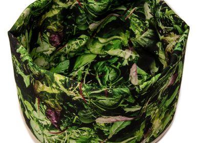Kitchen Furniture - Fabric basket printed Salad - MARON BOUILLIE