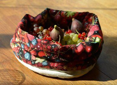 Homeweartextile - Corbeille en tissu imprimé Fruits rouges - MARON BOUILLIE