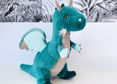 Soft toy - Emerald Dragon 40 cm - HISTOIRE D'OURS