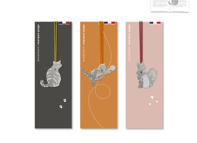 Stationery store - Stainless steel bookmark - Cats. - TOUT SIMPLEMENT,