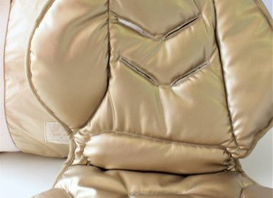 Cushions - MULTIFUNCTIONAL BABY COVER GOLD LEATHER COLLECTION - PETIT ALO