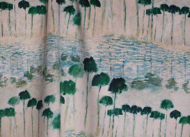 Upholstery fabrics - PRINTED VELVET REFLEJOS - MAISON LEVY