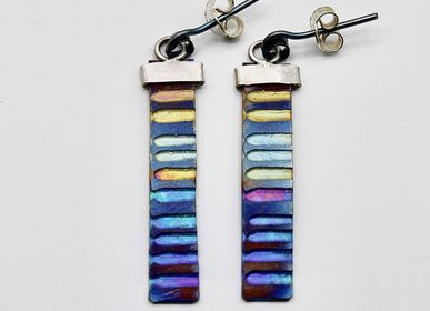 Jewelry - Rectangular titanium earrings - PEDRO SEQUEROS