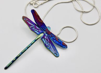 Jewelry - Titanium dragonfly pendant - PEDRO SEQUEROS