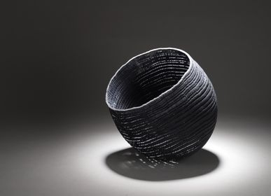 Decorative objects - black/grey bowl large - PASCAL OUDET