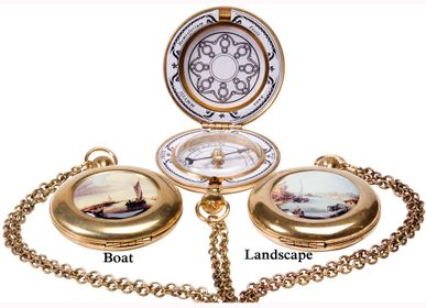 Jewelry - Pocket Compass Enamel  - HEMISFERIUM