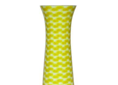 Bowls - Yellow River Slim Vase Medium - SYNCHROPAINT