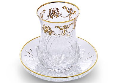 Tea / coffee accessories - SARAY TEA CUP with SAUCER - LALE DEVRI ISTANBUL