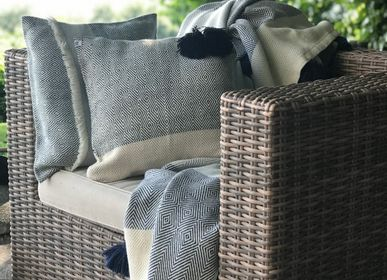 Fabric cushions - Cushion Marea Black - T'RU SUSTAINABLE HANDMADE