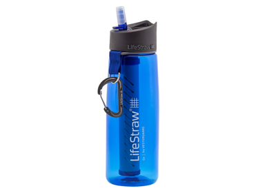 Travel accessories / suitcase - Bottle with water filter 0.65L, BPA-free plastic, blue - LIFESTRAW®