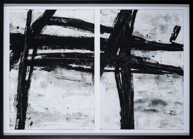 Tableaux - TABLEAU D'ABSTRACTION NOIRE - NOVOCUADRO ART COMPANY