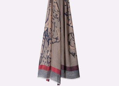 Scarves - SCARF VITAL WOOL SILK - PETRUSSE PARIS